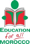 Education For All Morocco logo linkg to website