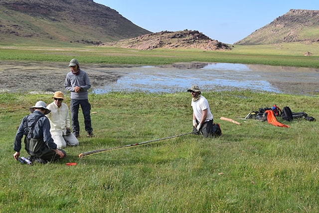 Sediment coring on the Yagour Plateau